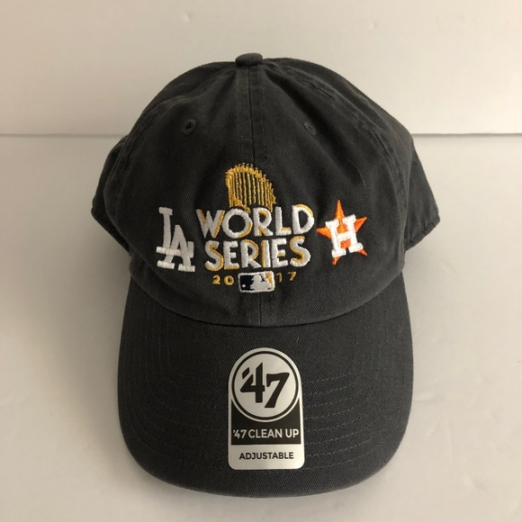 1a0751d86d2 2017 World Series Dodgers   Astros Dad Hat. NWT.  47 Clean Up